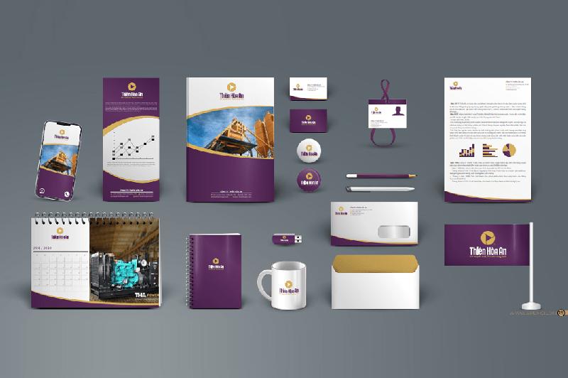 Thiết kế hệ thống nhận diện thương hiệu Thiên Hòa An