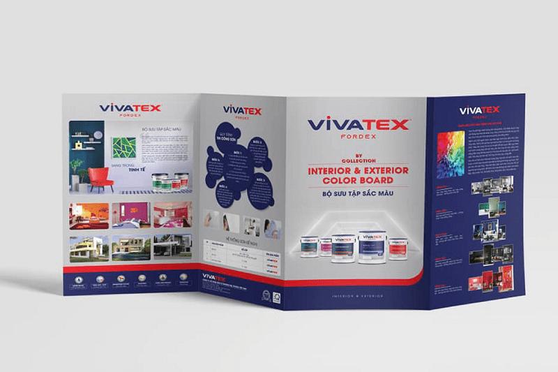 Thiết kế nhận diện thương hiệu sơn Vivatex