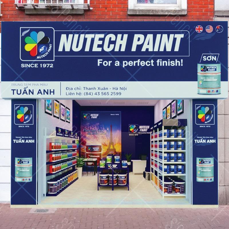Thiết kế Showroom sơn Nutech