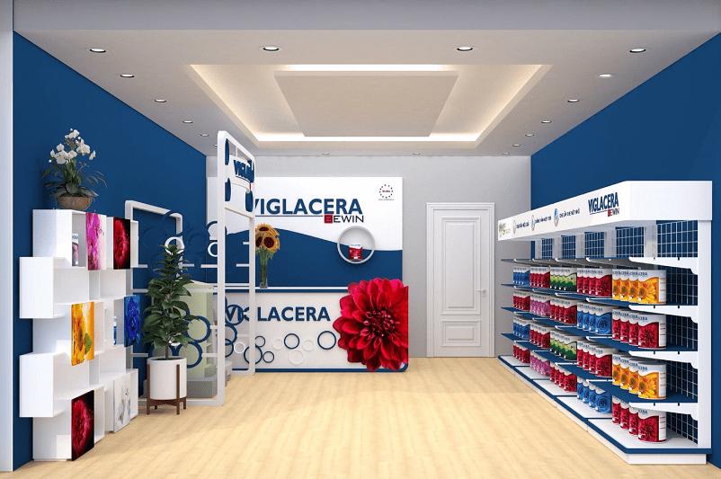 Thiết kế Showroom sơn Viglacera