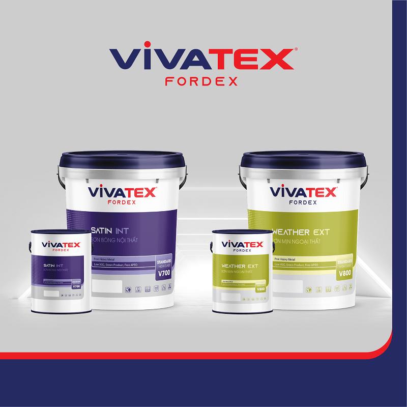 Thiết kế vỏ thùng và nhận diện sơn Vivatex